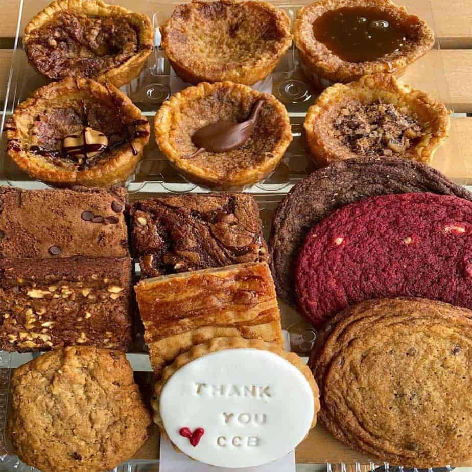 butter tarts, brownies and cookies